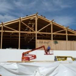 Hallenerweiterung 2012 Abnahme der Wand