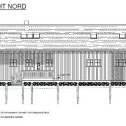 Köhldorfner Muster-Holzhaus Eingabeplan Ansicht Nord