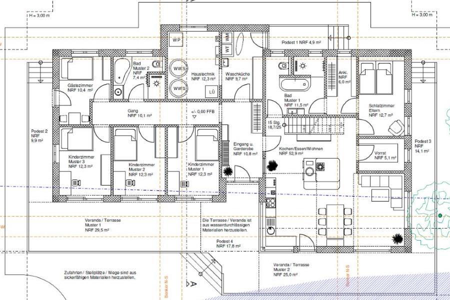 Eingabeplan Zeichnen Und Plane Fur Genehmigungsplan 0