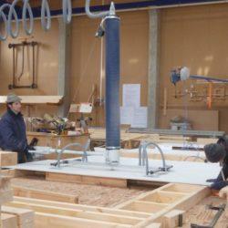 Köhldorfner Musterhaus Vormontage Holzwände