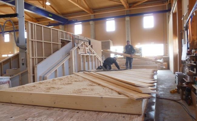 Produktion Holz Bodenplatte Kohldorfner Holzbau Gmbh