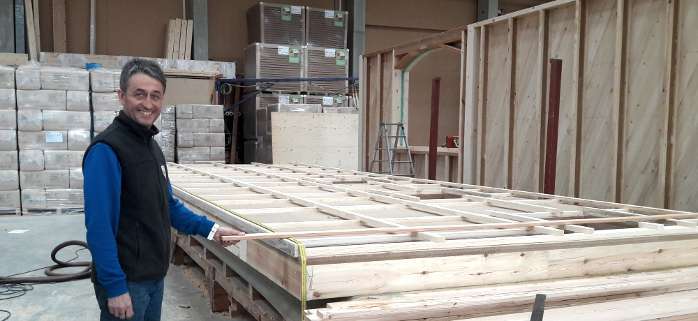Produktion Holzwände