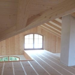 Köhldorfner Muster-Holzhaus Innenausbau