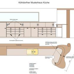 Köhldorfner Musterhaus-Küchenzeile