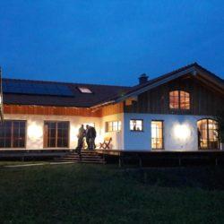 Köhldorfner Musterhaus Einweihung Abendstimmung