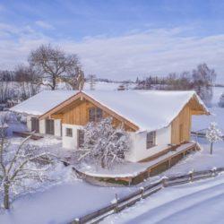Köhldorfner Musterhaus im Winter