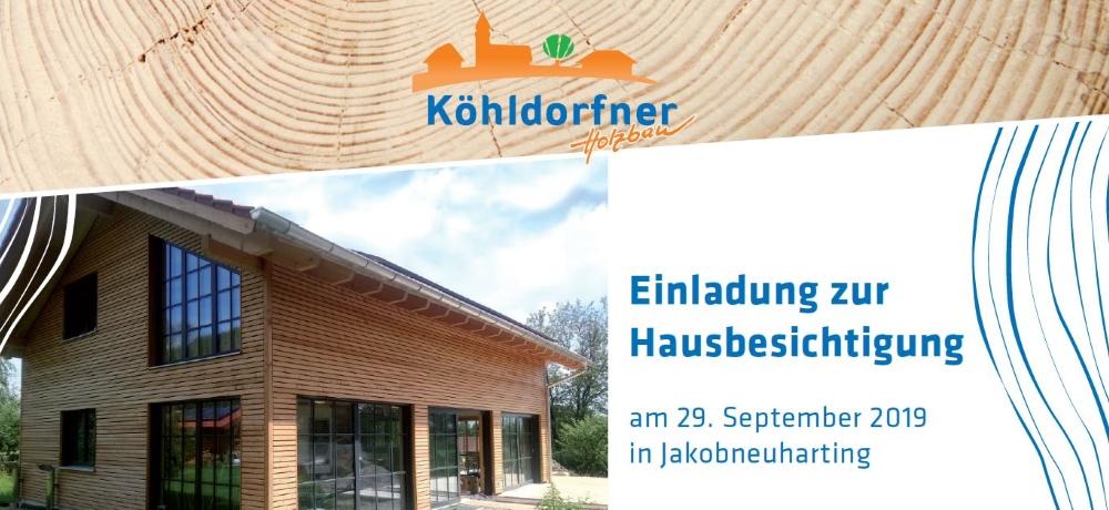 Einladung zur Hausbesichtigung am 29.09.2019