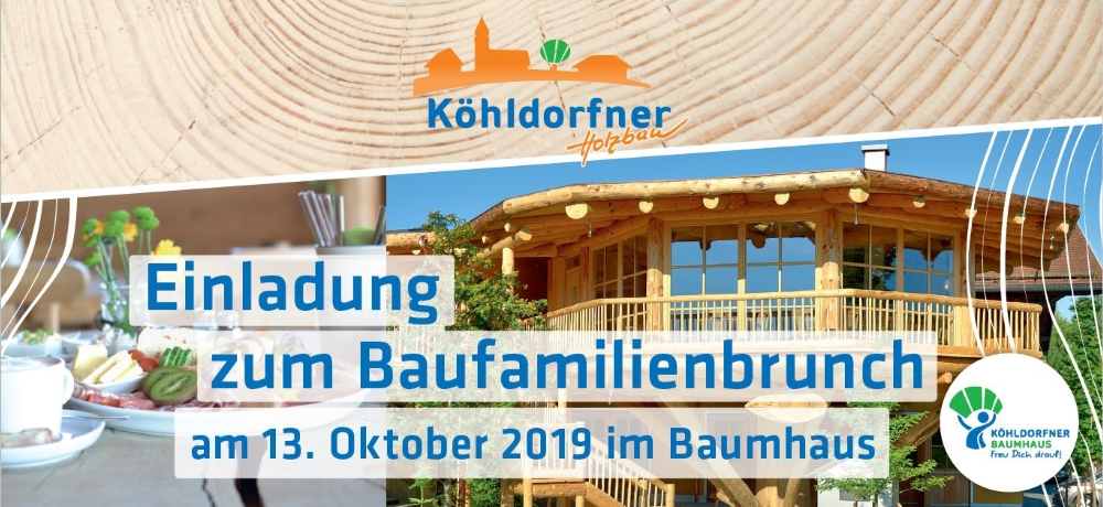 Baufamilienbrunch am 13.10.2019 - Das wohngesunde Holzhaus