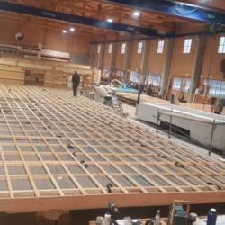 Köhldorfner Holzhaus Oase Thalham Vormontage der Dachelemente
