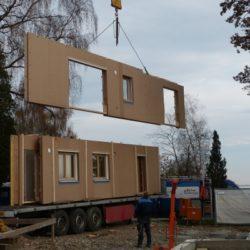 Köhldorfner Holzhaus Oase Thalham Montage Holzwände