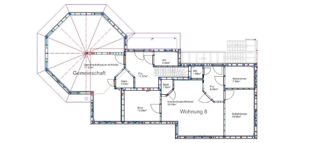 Planung der Holzhäuser