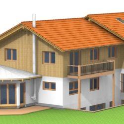 Köhldorfner Holzhaus Referenzobjekt Oase Thalham Südhaus SW-Seite
