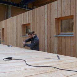 Köhldorfner Holzhaus Vormontage Holzwände