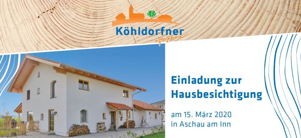 Einladung zur Hausbesichtigung am 15.03.2020