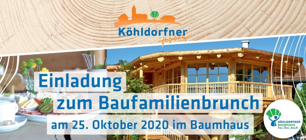 Baufamilienbrunch am 25.10.2020 - Das wohngesunde Holzhaus